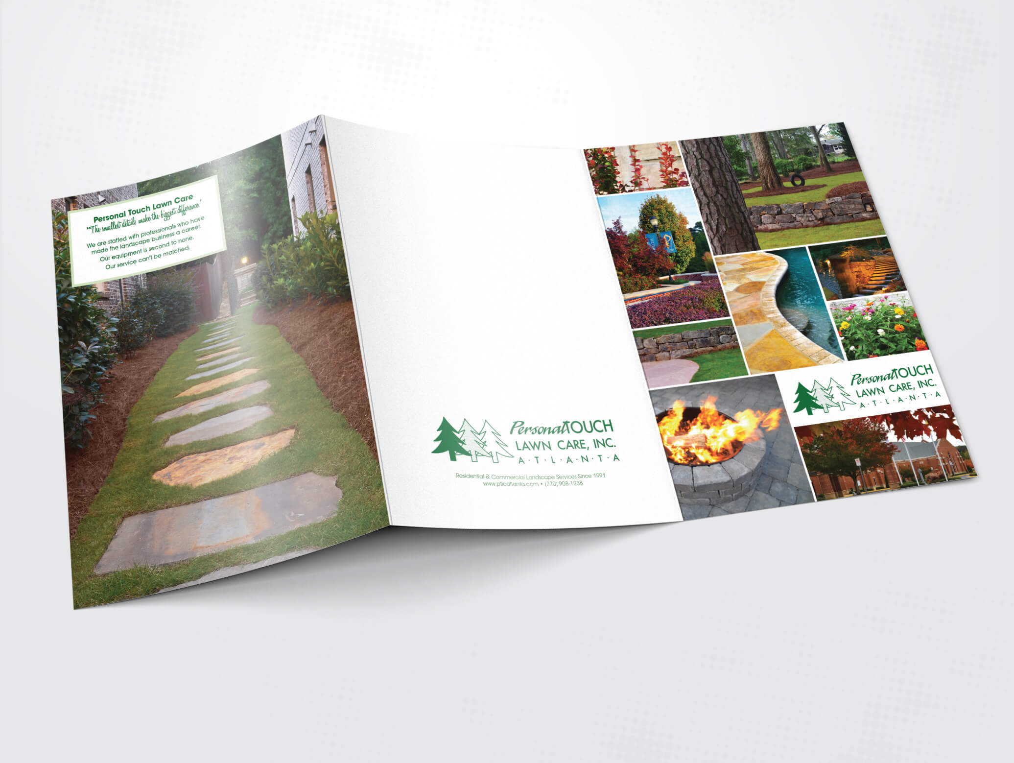 Personal Touch Lawn Care Atlanta brochure
