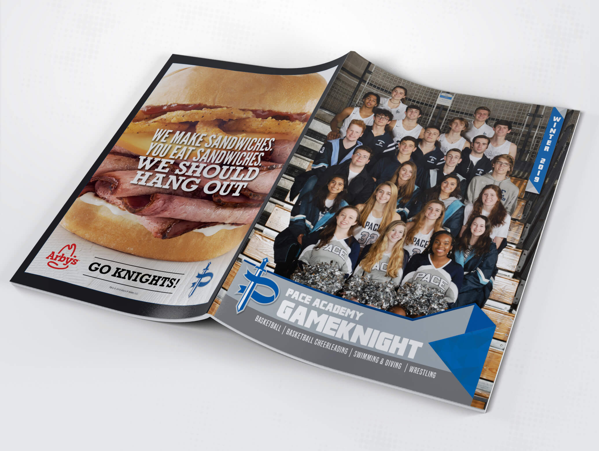 pace academy high school sports program cover